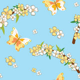 Seamless pattern with spring theme Stock Image