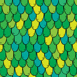 Seamless pattern with squama in green colors Stock Image