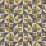 Seamless pattern of square blocks divided by diagonal grid Stock Images