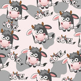 Seamless pattern square cartoon Cow Royalty Free Stock Photos