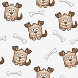 Seamless pattern square dog and bone 2 Stock Images