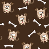 Seamless pattern square dog and bone Royalty Free Stock Photography