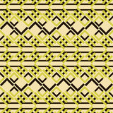 Seamless pattern of square lattices and V-shaped elements Stock Photo