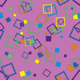 Seamless pattern with squares Stock Photos