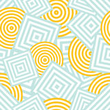 Seamless pattern - squares and circles Royalty Free Stock Photo