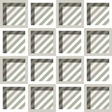 Seamless pattern of squares with diagonal stripes. Royalty Free Stock Images