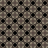 Seamless pattern of squares and diamonds in brown colors Royalty Free Stock Photo
