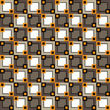 Seamless pattern with squares of different sizes and colors stock illustration