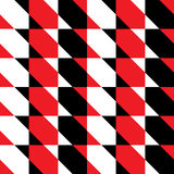 Seamless pattern with squares divided by diagonal stripes. Royalty Free Stock Photo