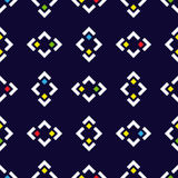 Seamless pattern with squares on navy blue background. Royalty Free Stock Photography