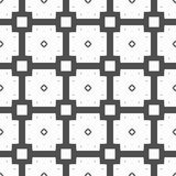 A seamless pattern of squares and quadrangles in gray and black white. Stock Photos