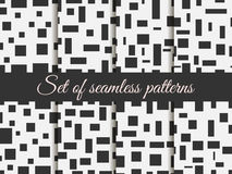 Seamless pattern with squares and rectangles. Pattern with squares and rectangles. Monochrome colour. Royalty Free Stock Photo
