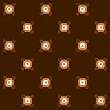 Seamless pattern of squares and spirals. Royalty Free Stock Photo