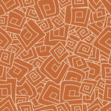 Seamless pattern from squares, spirals, rhombus Stock Image