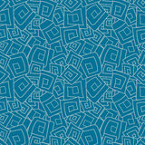 Seamless pattern from squares, spirals, rhombus Royalty Free Stock Photos