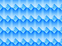 Seamless pattern with squares and transparent shadows in blue colors. Vector Stock Photography