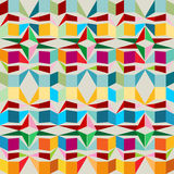 Seamless pattern with squares and triangles Royalty Free Stock Photography