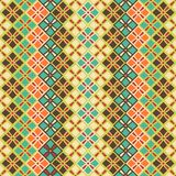 Seamless pattern of squares in vintage style Royalty Free Stock Images