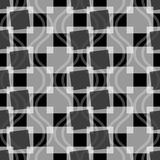 Seamless pattern of squares and wavy lines. Stock Photos