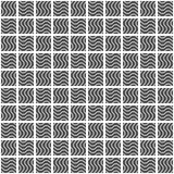 Seamless pattern of squares. Wavy wallpaper. Royalty Free Stock Photography