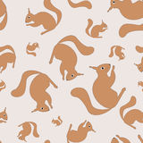 Seamless pattern with squirrel Stock Images