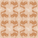Seamless pattern with squirrel Stock Image
