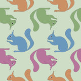 Seamless pattern with squirrel Royalty Free Stock Photos