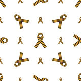 Seamless pattern with St. George Ribbon Royalty Free Stock Image