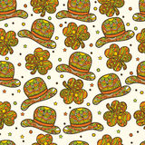 Seamless pattern for St. Patrick's Day concept. Stock Image