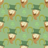 Seamless pattern with St. Patrick's day  elements Royalty Free Stock Image