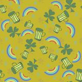 Seamless pattern with St. Patrick's day  elements Royalty Free Stock Images