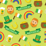 Seamless pattern St. Patrick's Day Stock Images