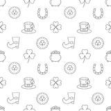 Seamless pattern St. Patrick`s Day. Vector illustration Royalty Free Stock Photography