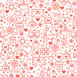 Seamless Pattern for st. Valentine's Day Royalty Free Stock Image