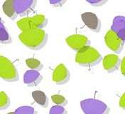 Seamless pattern with stack of scattered colored parasols Stock Photos