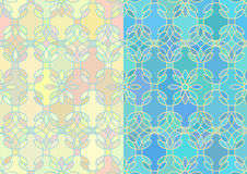 Seamless pattern with stained glass ornament Royalty Free Stock Photography