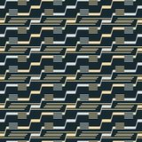 Seamless pattern of stair step lines and parallel segments. Seamless abstract pattern of stair step lines and parallel thin strips. Endless geometric vector Royalty Free Stock Photography