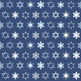 Seamless pattern with  star of David traditional Jewish symbol Stock Photography