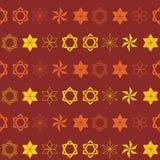Seamless pattern with star of David traditional Jewish symbol Royalty Free Stock Image