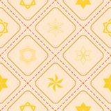 Seamless pattern with star of David traditional Jewish symbol Royalty Free Stock Photos