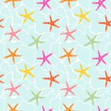Seamless pattern with star fish. stock illustration