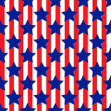 Seamless pattern with star patriotic usa Stock Photography