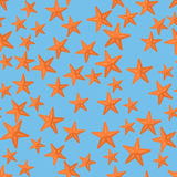 Seamless pattern with  starfish. Royalty Free Stock Images