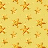 Seamless pattern with starfish. Vector illustration. Royalty Free Stock Images