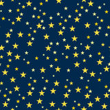 Seamless Pattern with Starry Night. Royalty Free Stock Photography