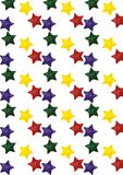 Seamless pattern with stars. Seamless pattern with multi-colors stars Royalty Free Stock Photo