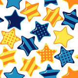 Seamless pattern with stars Royalty Free Stock Images