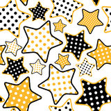Seamless pattern with stars Stock Photography