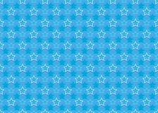 Seamless pattern with stars. Blue seamless pattern with stars Stock Photos