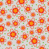 Seamless pattern from stars Stock Image